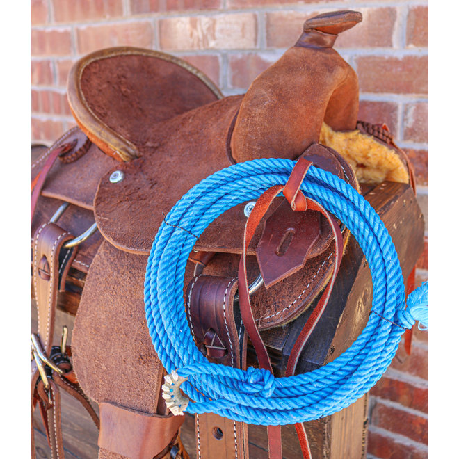20 ft Blue Azul Soft Kid Rodeo Lasso Lariat