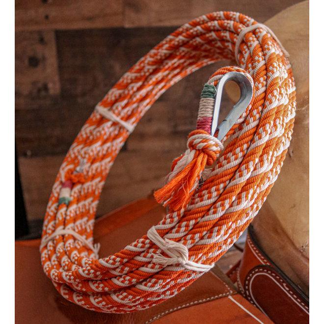 Charro Cotton Rope Lasso 68 Ft Metal Burner Soga  Adulto Hondilla Metal