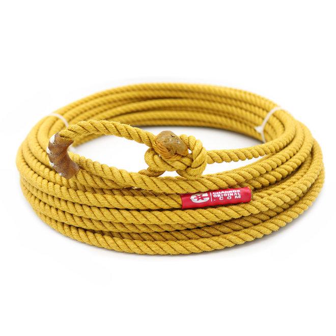 50 Ft Poly Nylon Lead Rope Yellow Soga Plomo Amarilla Charreria