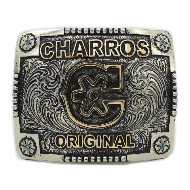 """Charros Original Logo Hebilla Buckle (3.75"""" x 3"""")"""