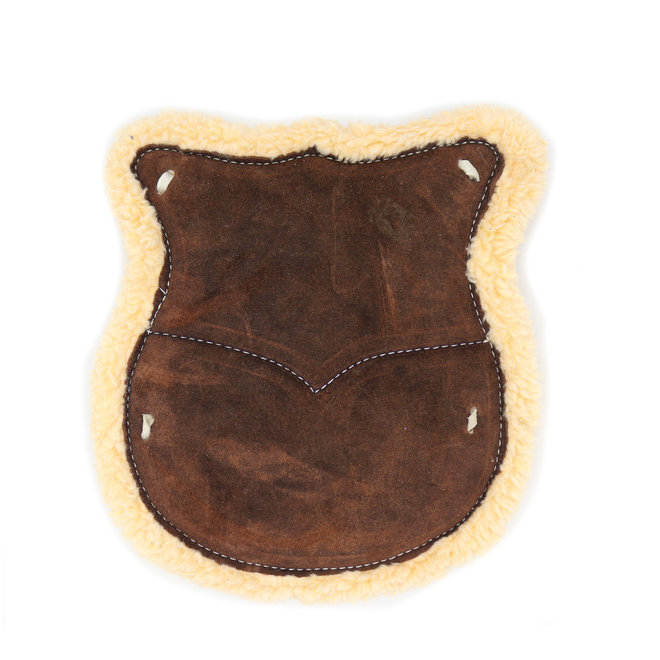 Dark Brown Asiento De Borrego Western Saddle Leather Wool Cushion