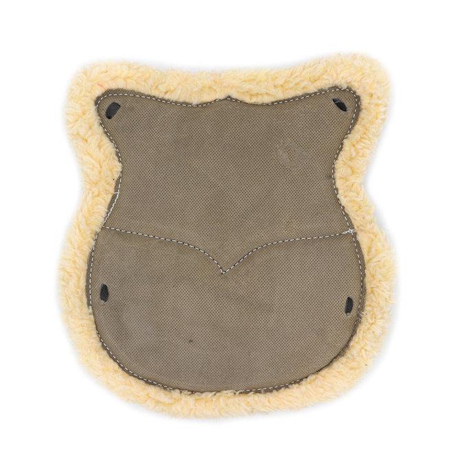 Pewter Asiento De Borrego Western Saddle Leather Wool Cushion