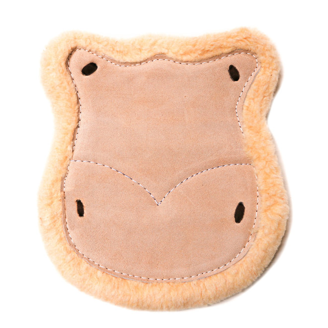 Natural Asiento De Borrego Charro Western Saddle Leather Wool Cushion
