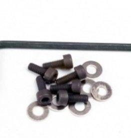 Traxxas Traxxas Backplate screws (3x8mm cap-head machine) (6)/washers (6)/ wrench TRA1552
