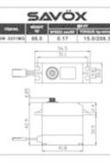 Savox SW0231MG - Waterproof Standard Digital Servo .17/208 @ 6.0V