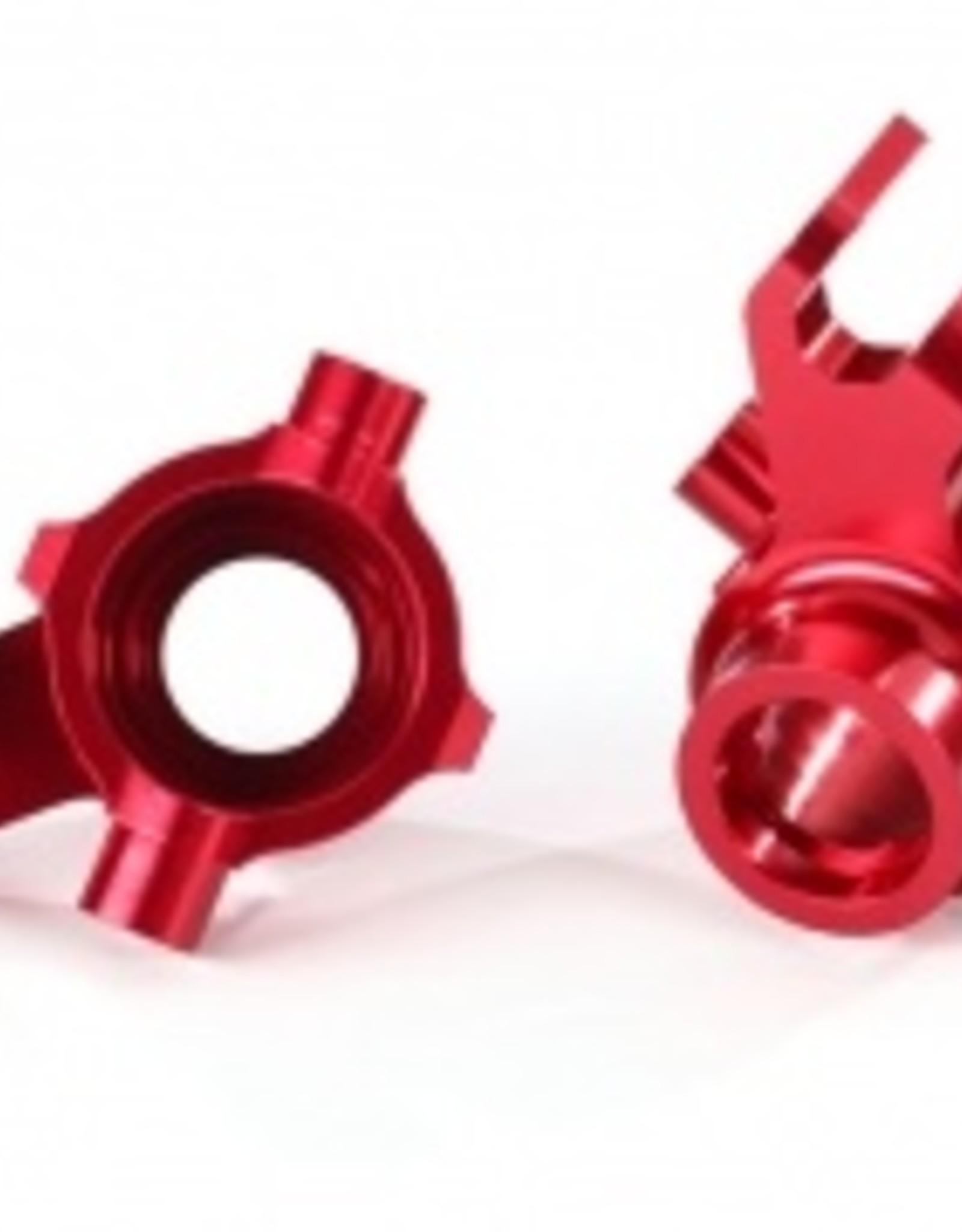Traxxas Traxxas Maxx Steering blocks, 6061-T6 aluminum (red-anodized), left & right