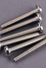 Traxxas Traxxas Screws, 3x20mm roundhead machine (6)
