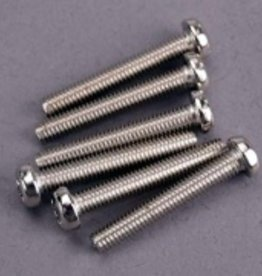 Traxxas Traxxas Screws, 3x20mm roundhead machine (6)