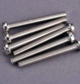 Traxxas Traxxas Screws, 3x25mm roundhead machine (6)
