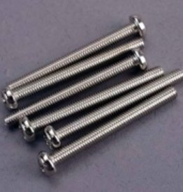 Traxxas Traxxas Screws, 3x30mm roundhead machine (6)