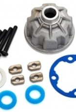 Traxxas Traxxas E-Revo 2.0 Carrier, differential (aluminum)/ x-ring gaskets (2)/ ring gear gasket/ spacers (4)/ 12.2x18x0.5 metal washer