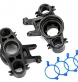 Traxxas Traxxas E-Revo 2.0 Axle carriers, left & right (1 each) (use with 8x16mm & 17x26mm ball bearings)/ dust boot retainers (4)