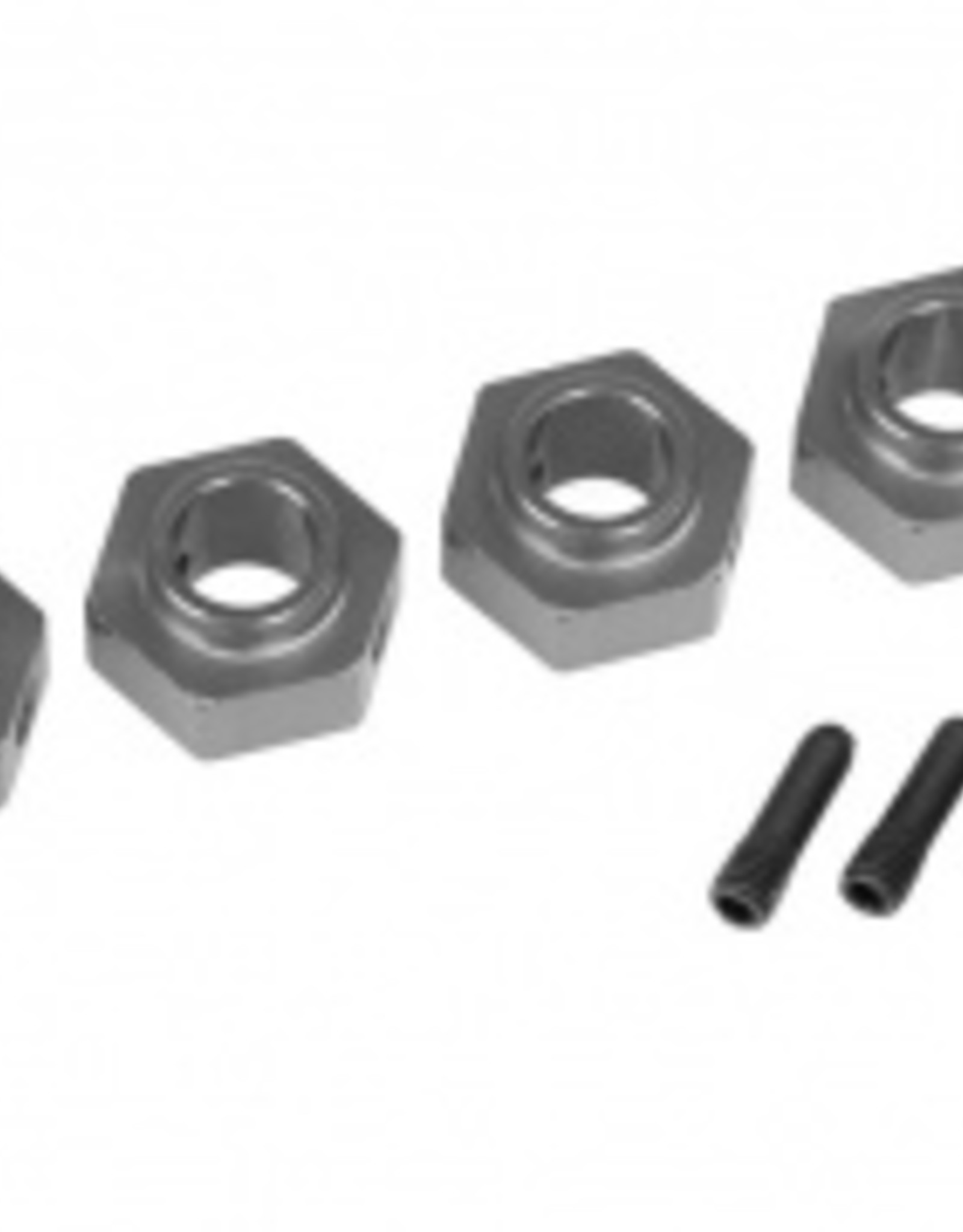 Traxxas Traxxas TRX Wheel hubs, 12mm hex, 6061-T6 aluminum (charcoal gray-anodized) (4)/ screw pin (4)