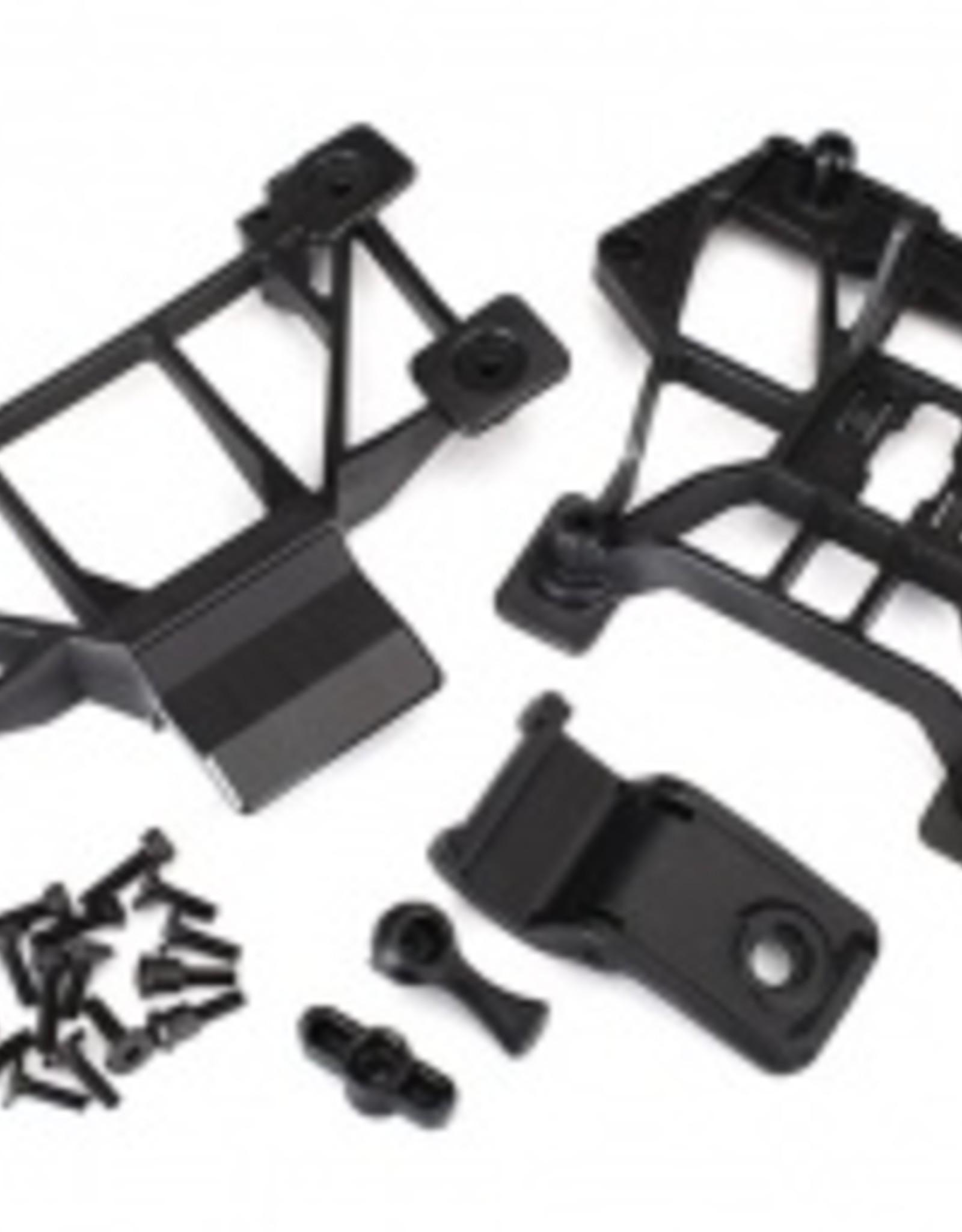 Traxxas Traxxas E-Revo 2.0 Body mounts, front & rear/ 3x12mm CS (4)/ 3x12mm shoulder screw (2)/ 3x10mm flat-head machine screw (8)/ 3x12mm BCS (1)