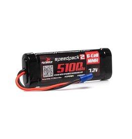 Dynamite SPEEDPACK2 7.2V 5100MAH 6 CELL NiMH FLAT EC3