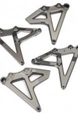 Traxxas Traxxas Unlimited Desert Racer Shock mounts, rear (left & right) (satin black chrome-plated)