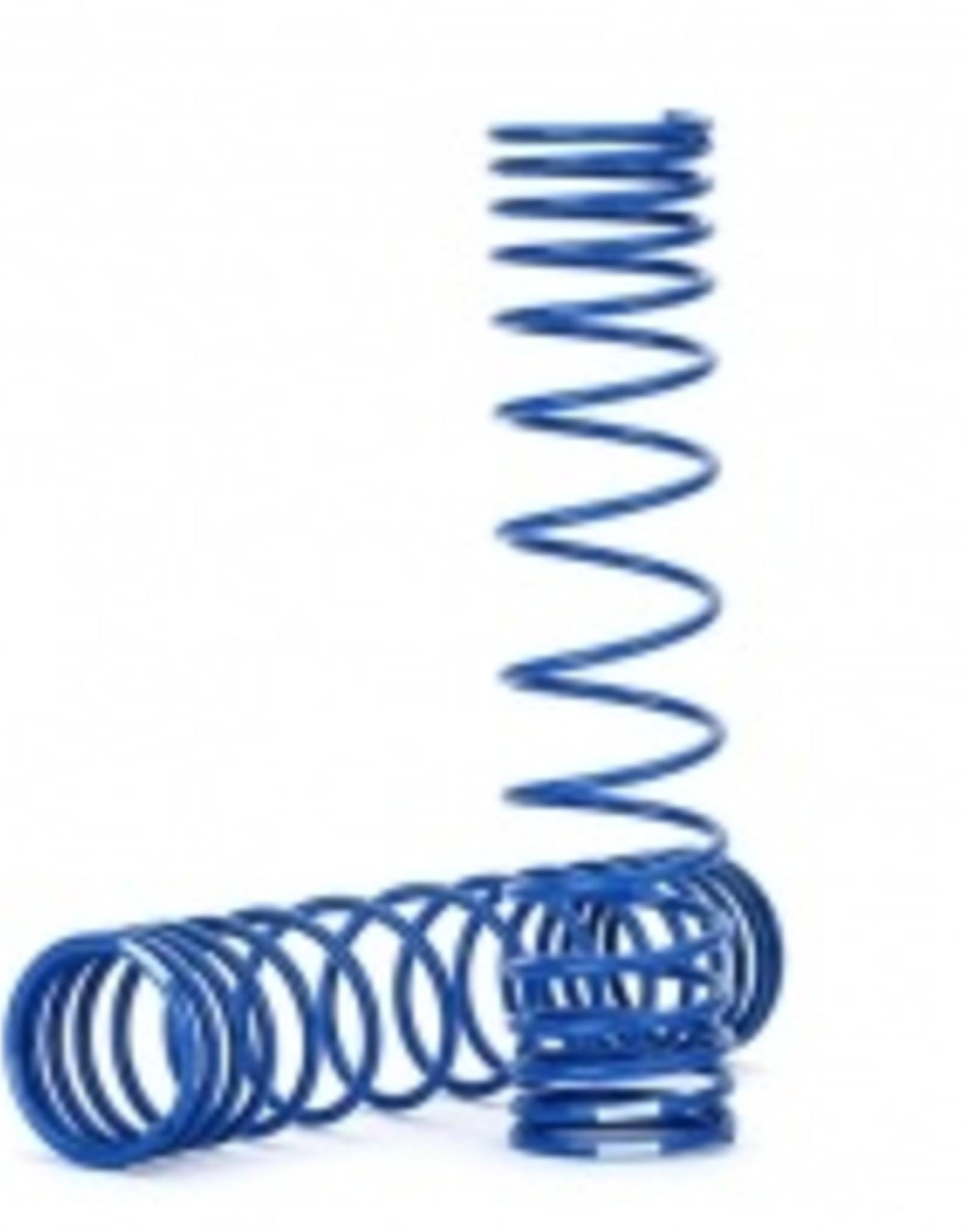 Traxxas Traxxas Unlimited Desert Racer Spring, shock, rear (blue) (GTR) (progressive, 1.042 rate) (2)