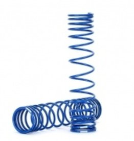 Traxxas Traxxas Unlimited Desert Racer Spring, shock, rear (blue) (GTR) (progressive, 1.042 rate) (2)