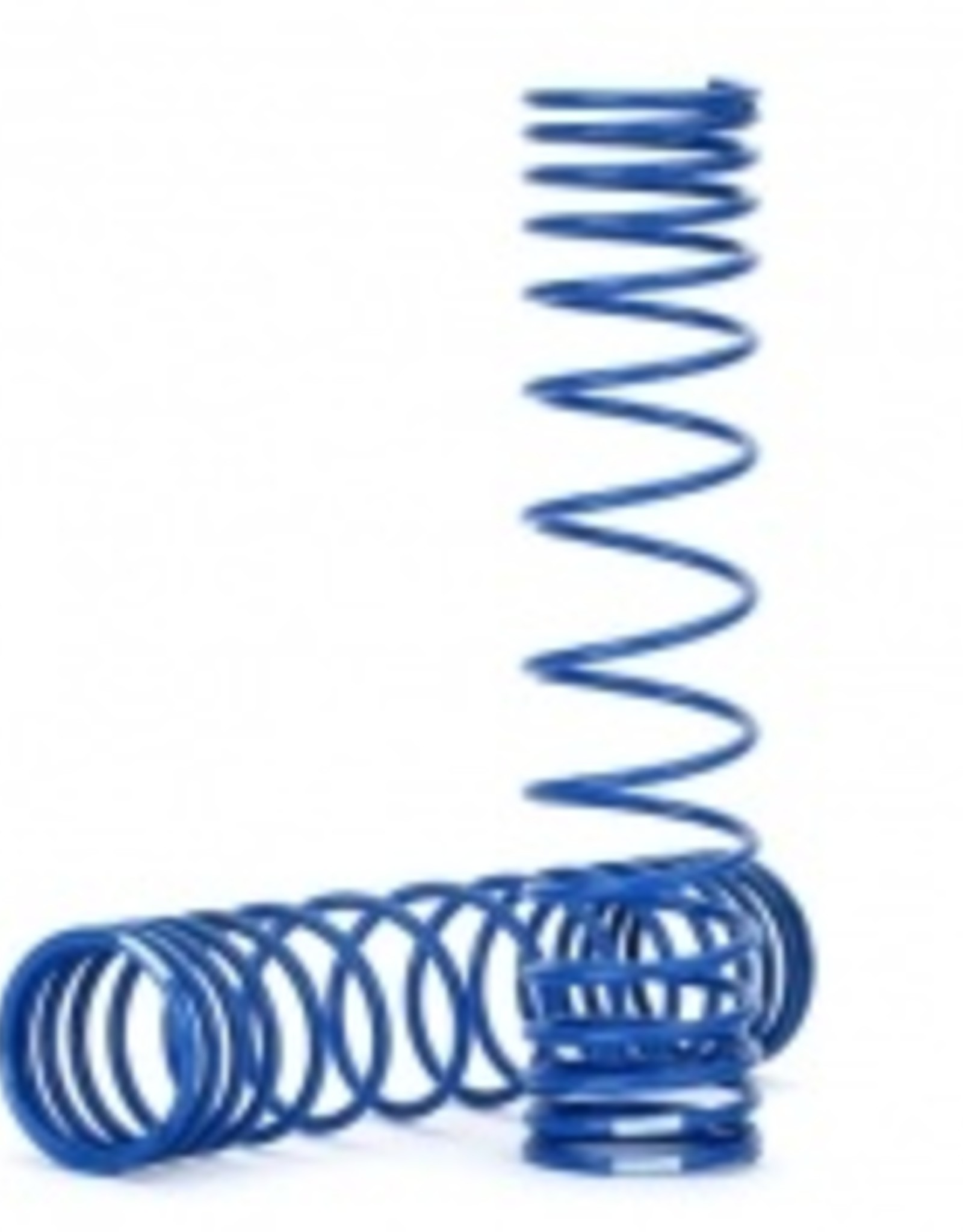 Traxxas Traxxas Unlimited Desert Racer Spring, shock, front (blue) (GTR) (progressive, 0.833 rate, white stripe) (2)