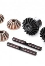 Traxxas Traxxas TRX Gear set, differential (output gears (2), spider gears (4), spider gear shaft (2))