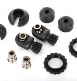 Traxxas Traxxas TRX Caps & spring retainers, GTS shocks (upper cap (2)/ hollow balls (4)/ bottom cap (2)/ upper retainer (2)/ lower retainer (2))