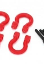 Traxxas Traxxas TRX Bumper D-rings, red (front or rear)/ 2.0x12 CS (4)