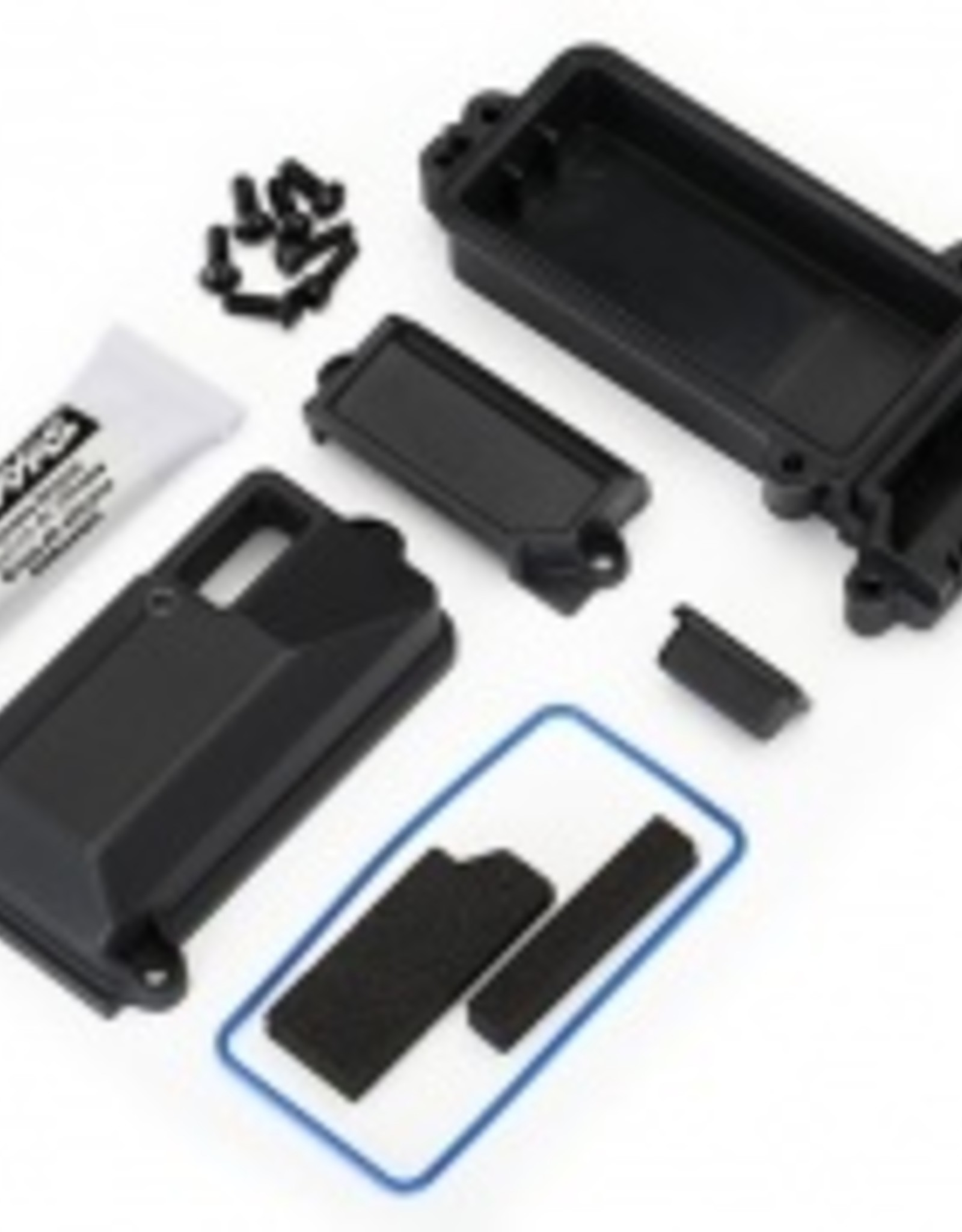 Traxxas Traxxas TRX Box, receiver (sealed)/ wire cover/ foam pads/ silicone grease/ 3x8 BCS (5)/ 2.5x8 CS (2)