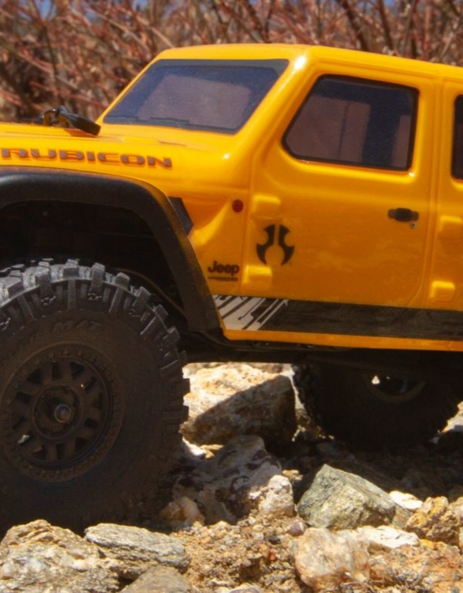 Axial Axial 1/24 SCX24 2019 Jeep Wrangler JLU CRC 4WD Rock Crawler Brushed RTR, Yellow