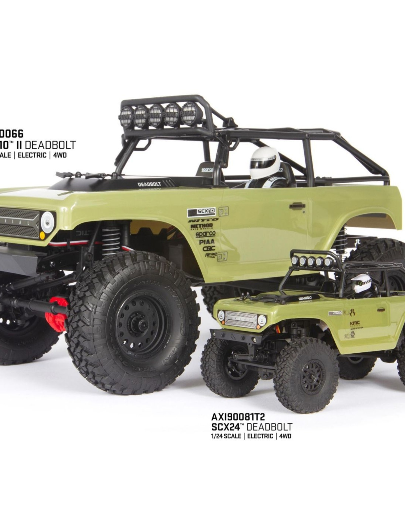 Axial Axial 1/24 SCX24 Deadbolt 4WD Rock Crawler Brushed RTR, Red