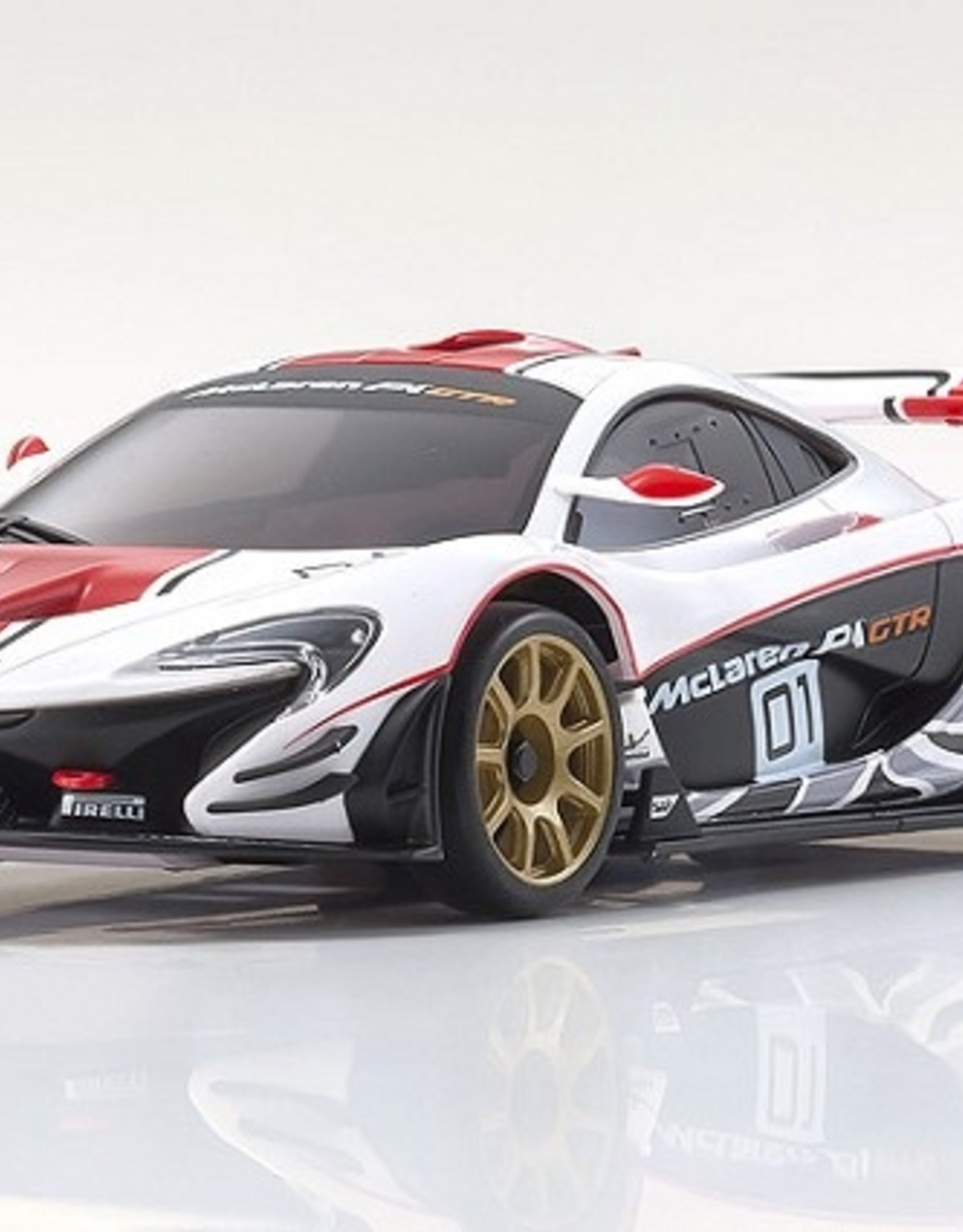 Kyosho Kyosho Mini-Z MZP235WR ASC MR-03W-MM ASC McLaren P1 GTR White/Red Body
