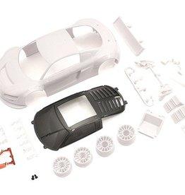 Kyosho Kyosho Mini-Z Audi R8LMS Night-R White Body Set w/Wheel