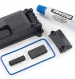 Traxxas Traxxas TRX Receiver box cover (compatible with #8224 receiver box & #2260 BEC)/ foam pads/ seals/ silicone grease