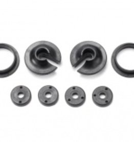 Traxxas Traxxas Spring retainers, upper & lower (2)/ piston head set (2-hole (2)/ 3-hole (2))