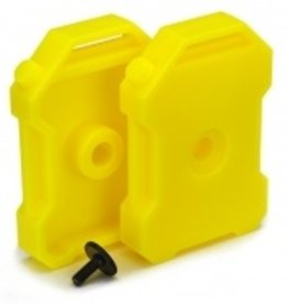 Traxxas Traxxas Fuel canisters (yellow) (2)/ 3x8 FCS (1)