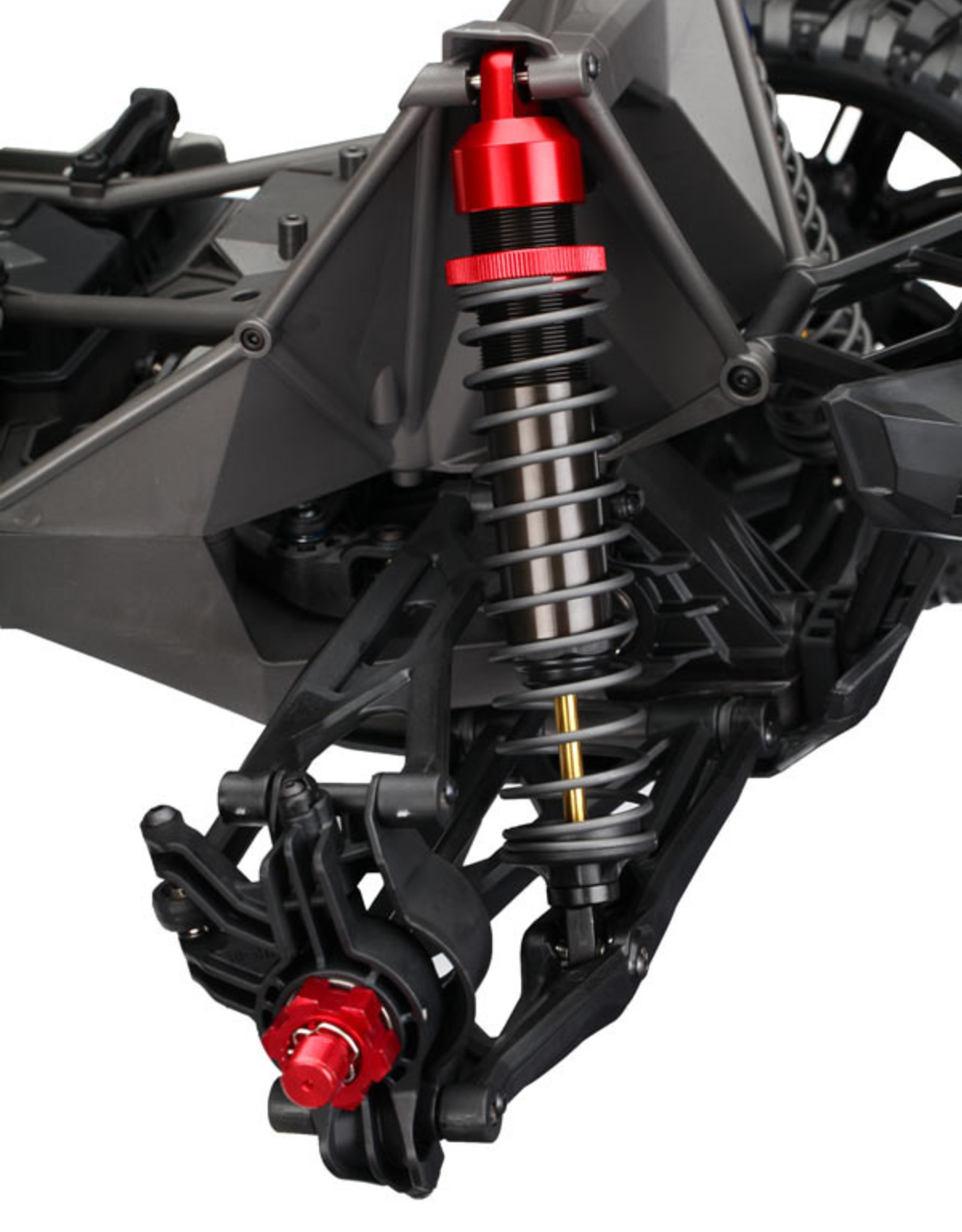 Traxxas Traxxas X-maxx Shock caps, aluminum (red-anodized), GTX shocks (4)/ spacers (8)