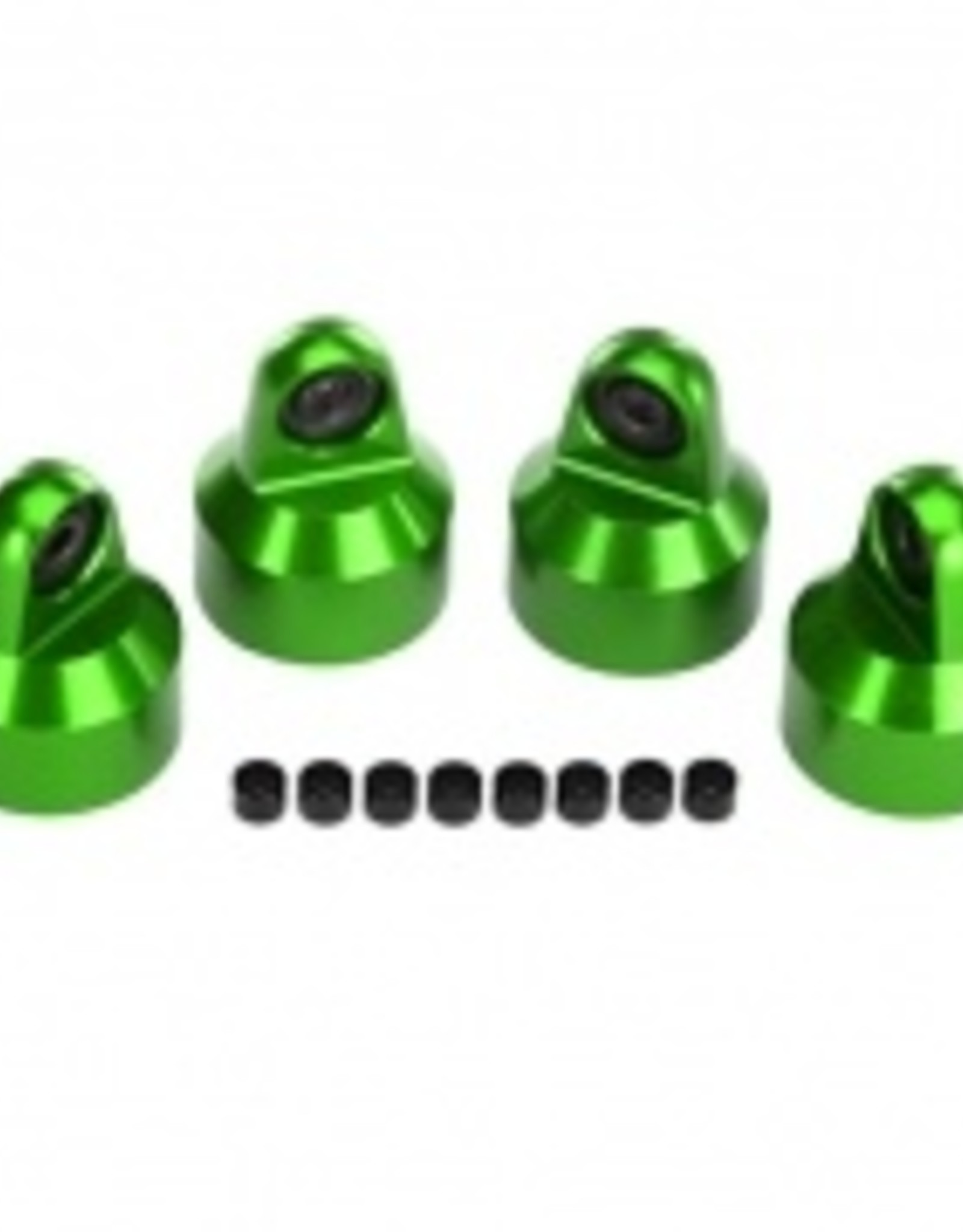 Traxxas Traxxas X-Maxx Shock caps, aluminum (green-anodized), GTX shocks (4)/ spacers (8)
