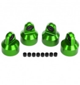 Traxxas Traxxas X-Maxx Shock caps, aluminum (green-anodized), GTX shocks (4)/ spacers (8)