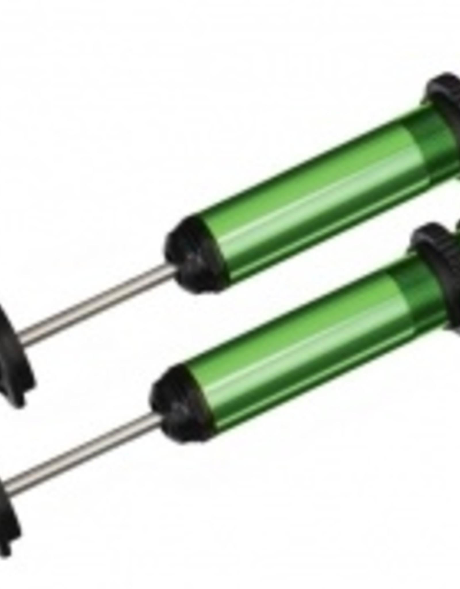 Traxxas Traxxas X-Maxx Traxxas X-Maxx Shocks, GTX, aluminum (green-anodized) (fully assembled w/o springs) (2)