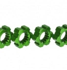 Traxxas Traxxas X-Maxx Wheel hubs, hex, aluminum (green-anodized) (4)