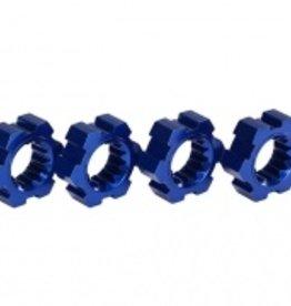 Traxxas Traxxas X-Maxx Wheel hubs, hex, aluminum (blue-anodized) (4)