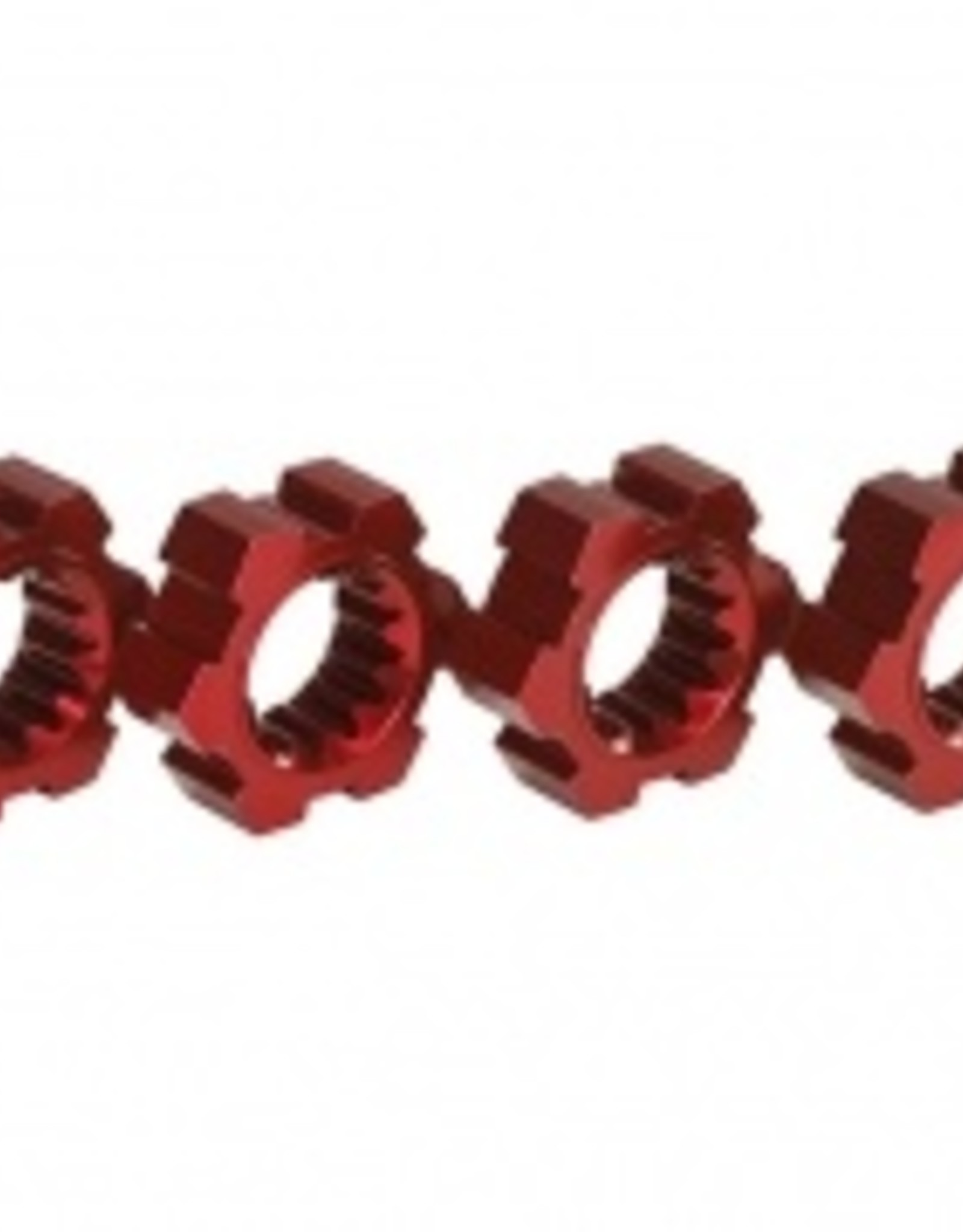 Traxxas Traxxas X-Maxx Wheel hubs, hex, aluminum (red-anodized) (4)