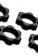 Traxxas Traxxas Wheel nuts, splined, 17mm, serrated (black-anodized) (4)