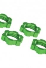 Traxxas Traxxas Wheel nuts, splined, 17mm, serrated (green-anodized) (4)