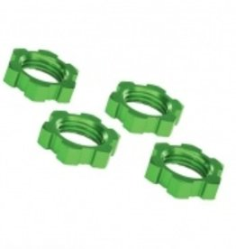 Traxxas Traxxas Wheel nuts, splined, 17mm, serrated (green-anodized) (4)