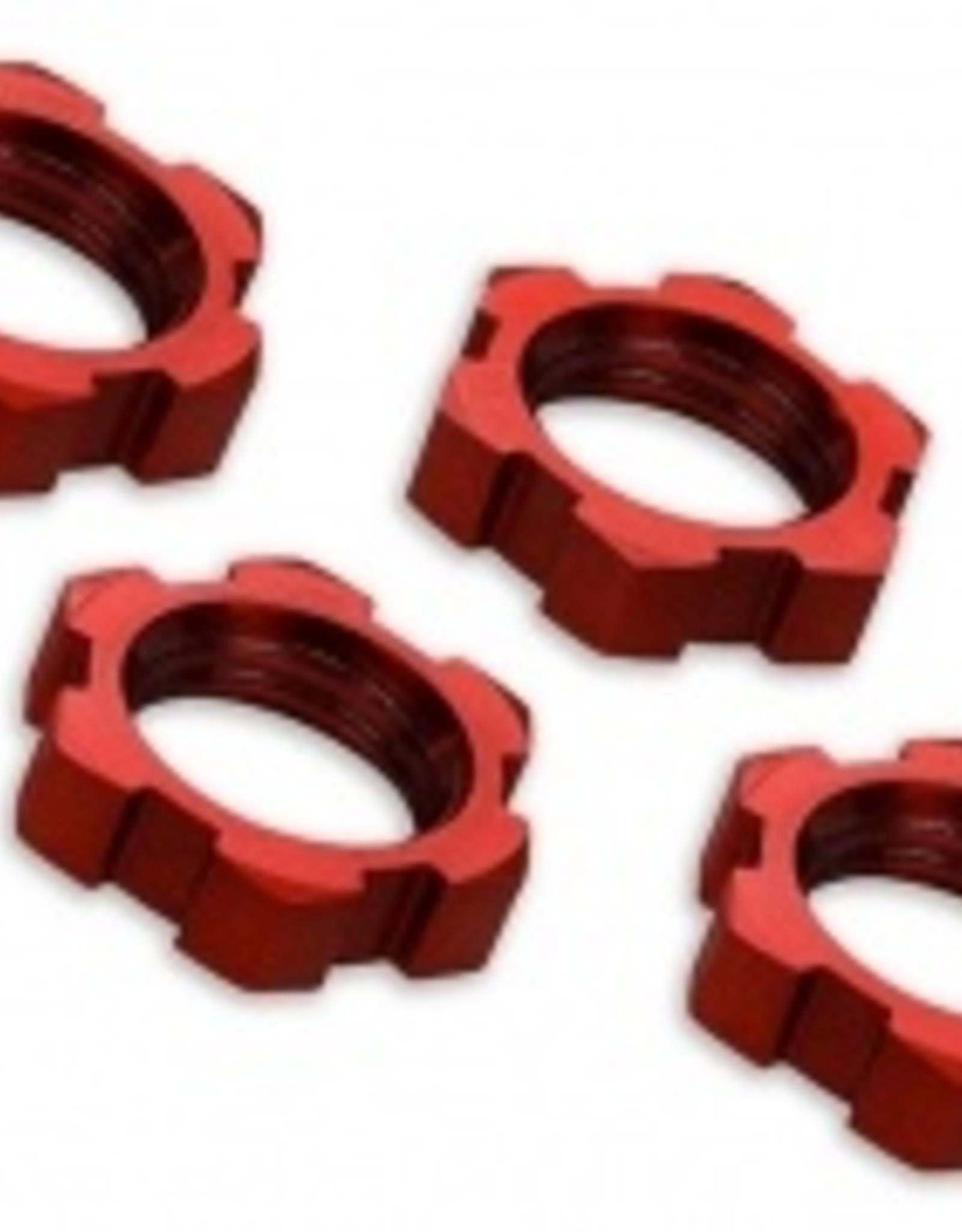 Traxxas Traxxas Wheel nuts, splined, 17mm, serrated (red-anodized) (4)