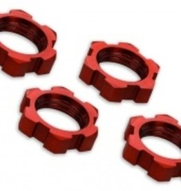 Traxxas Traxxas Wheel nuts, splined, 17mm, serrated (red-anodized) (4)