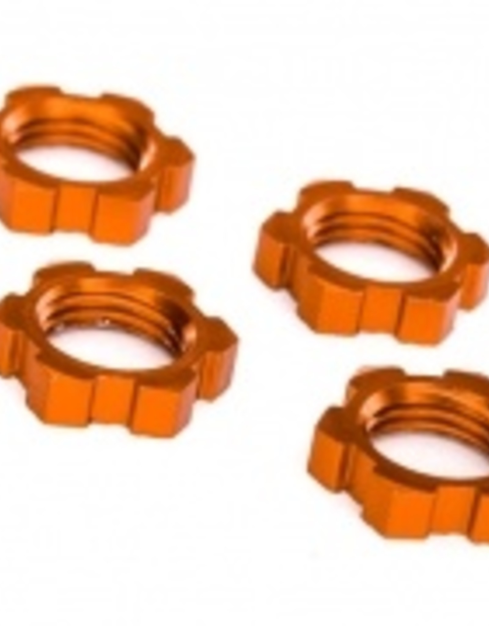 Traxxas Traxxas Wheel nuts, splined, 17mm, serrated (orange-anodized) (4)
