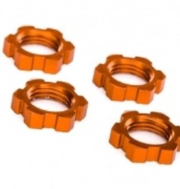 Traxxas Traxxas Wheel nuts, splined, 17mm, serrated (orange-anodized) (4)