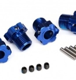 Traxxas Traxxas Wheel hubs, splined, 17mm (blue-anodized) (4)/ 4x5 GS (4)/ 3x14mm pin (4)
