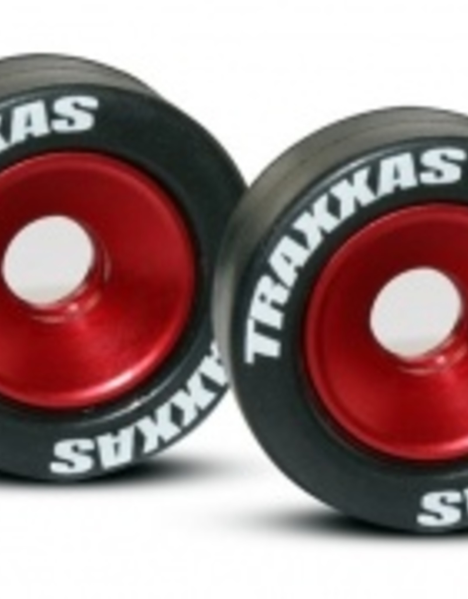 Traxxas Traxxas Wheels, aluminum (red-anodized) (2)/ 5x8mm ball bearings (4)/ axles (2)/ rubber tires (2)